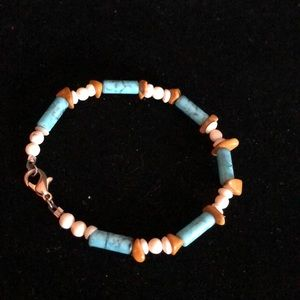 Merx Jewelry - Merx Turquoise and Brown Bead Necklace